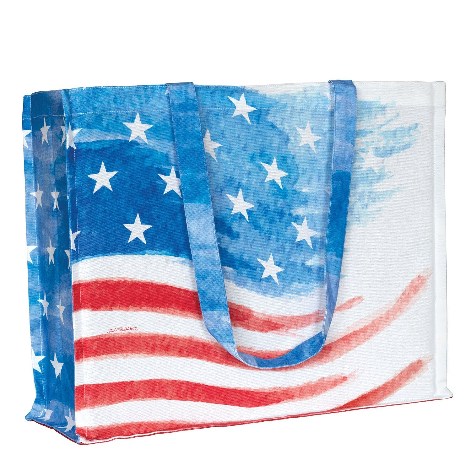 Red, White & Blue Cotton Tote Bag