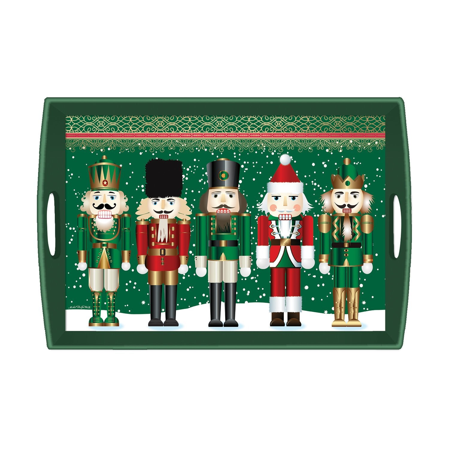 Nutcracker Decoupage Wooden Tray