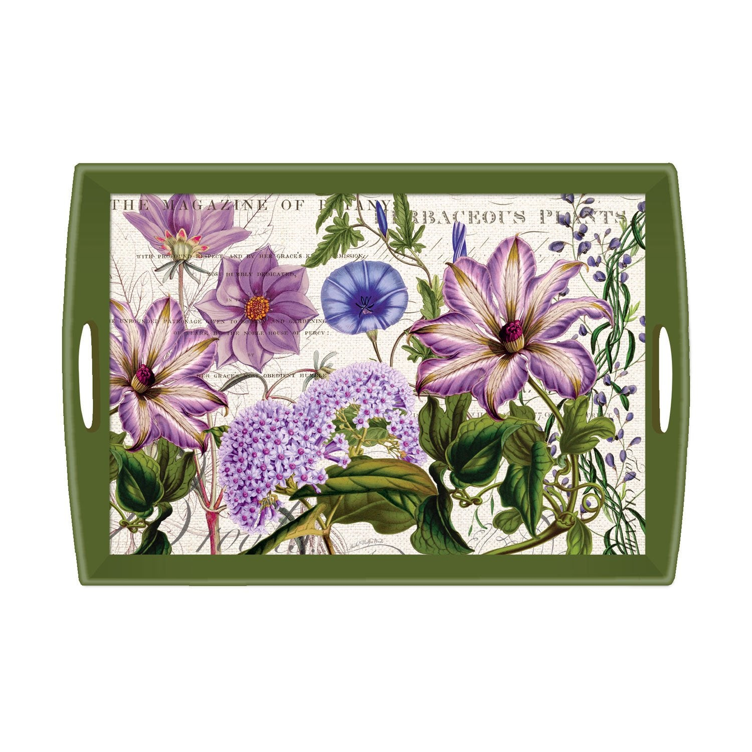 Rhapsody Large Decoupage Wooden Tray