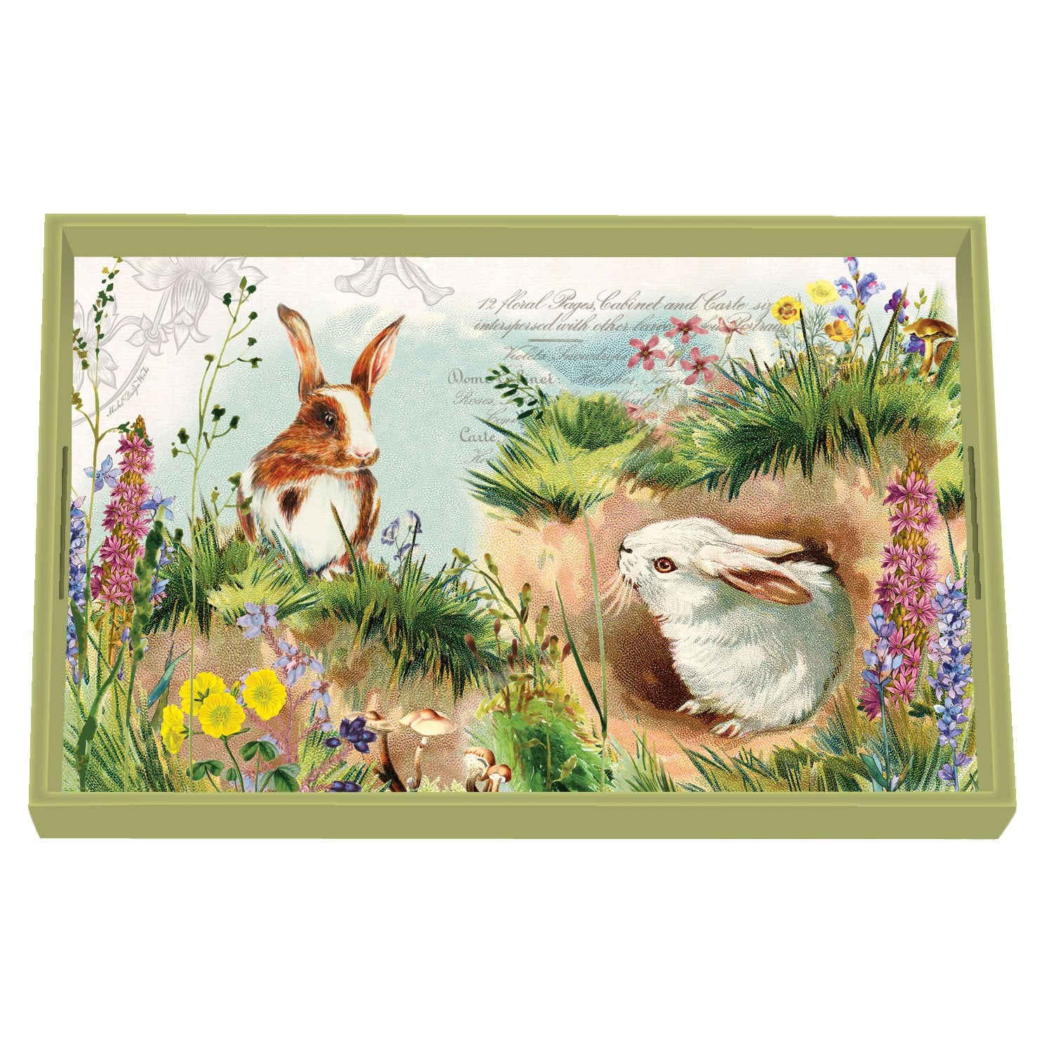 Bunny Hollow Decoupage Wooden Vanity Tray