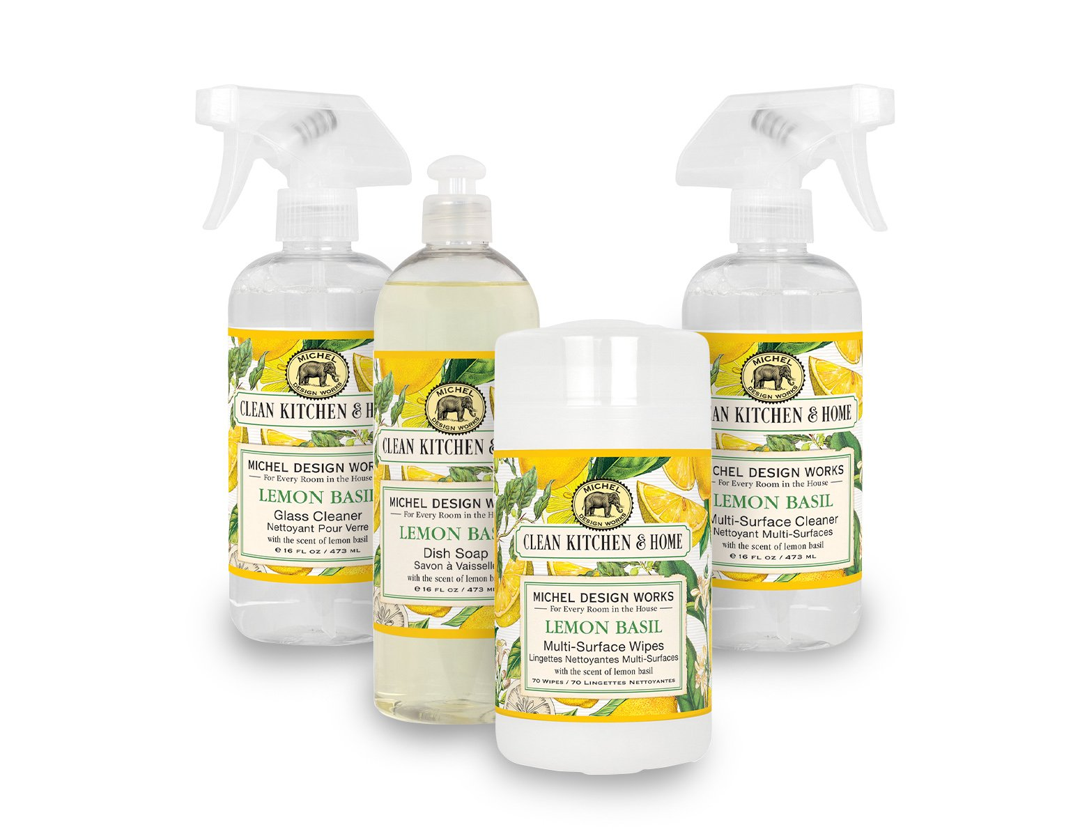 Lemon Basil Clean Kitchen Set