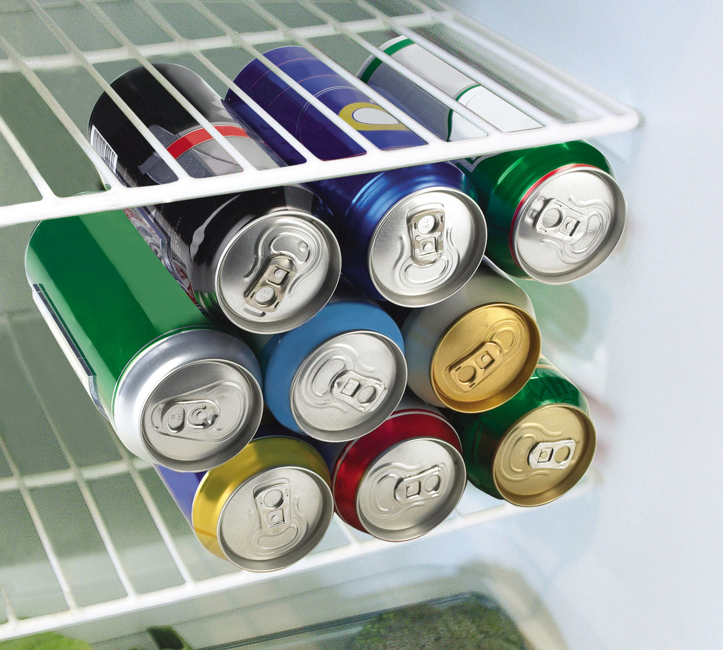 RakaStaka Cans - Space-Saving Beer and Soda Can Racks Ideal for in the Fridge (1 x Pack of 2) Supports 9+ Cans - As featured on Dragons' Den