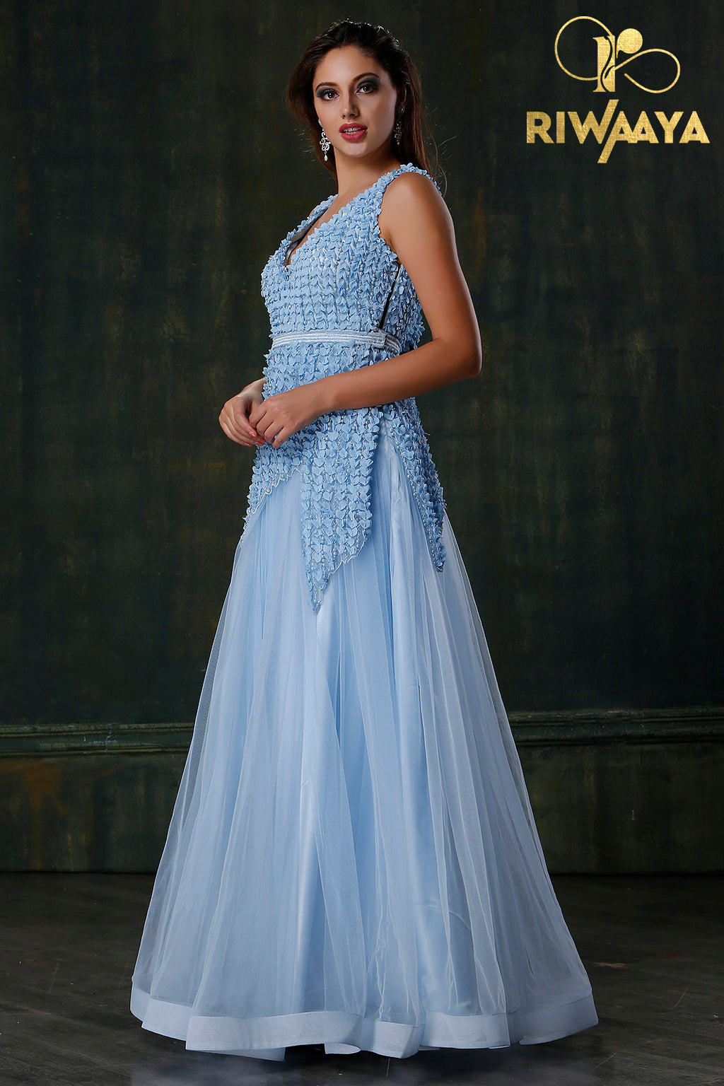 Blue Evening Gown Designer Blue Gowns Blue Gowns At Rs 15000