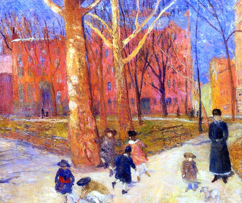 William James Glackens 29 Washington Square - Hand Painted Oil Painting