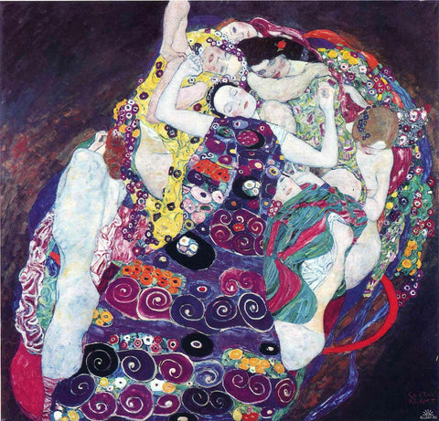The Virgins (less brightly colored) by Gustav Klimt - Hand Painted Oil Painting