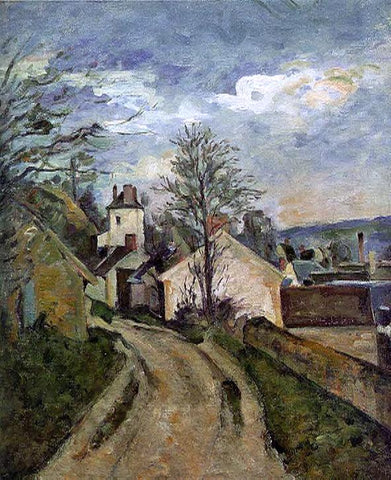 The House of Dr. Gached in Auvers by Paul Cezanne - Hand Painted Oil Painting
