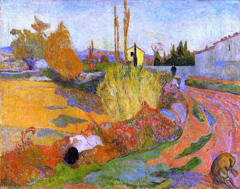 A Landscape, Farmhouse in Arles by Paul Gauguin - Hand Painted Oil Painting