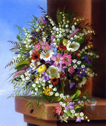 Spring Bouquet by Adelheid Dietrich - Hand Painted Oil Painting