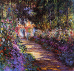 A Flowered Garden by Claude Oscar Monet - Hand Painted Oil Painting