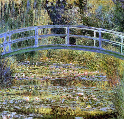 A Water-Lily Pond (also known as Japanese Bridge) by Claude Oscar Monet - Hand Painted Oil Painting