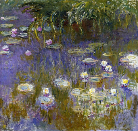 Yellow and Lilac Water-Lilies by Claude Oscar Monet - Hand Painted Oil Painting