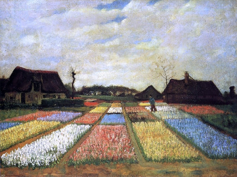A Bulb Field (also known as Flower Beds in Holland) by Vincent Van Gogh - Hand Painted Oil Painting