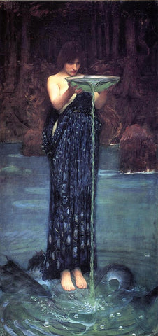 Circe Invidiosa by John William Waterhouse - Hand Painted Oil Painting