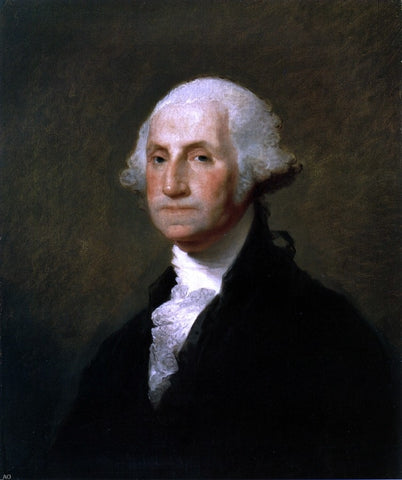 George Washington (The Gibbs-Channing-Avery Portrait) by Gilbert Stuart - Hand Painted Oil Painting