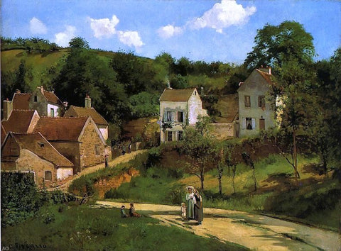 L'Hermitage at Pontoise by Camille Pissarro - Hand Painted Oil Painting
