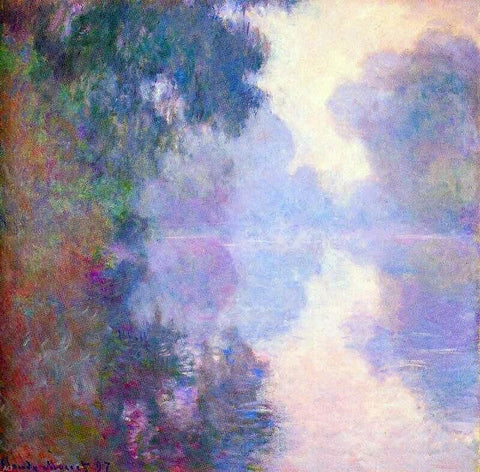 Misty morning on the Seine by Claude Oscar Monet - Hand Painted Oil Painting