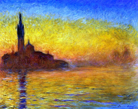A Twilight, Venice, Claude Monet - Hand Painted Oil Painting