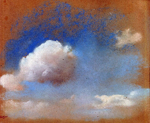 Sky Study by Edgar Degas - Hand Painted Oil Painting