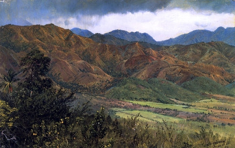 Red Hills near Kingston, Jamaica by Frederic Edwin Church - Hand Painted Oil Painting