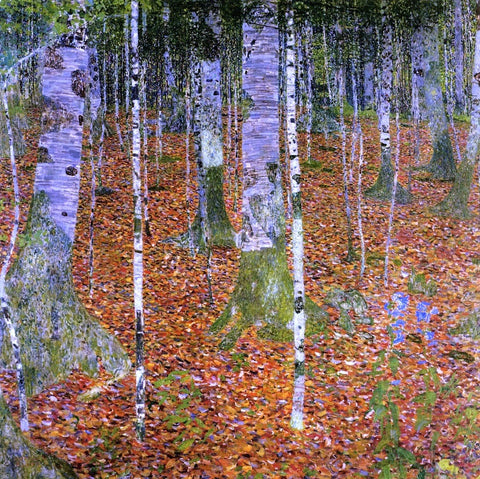 Birch Forest by Gustav Klimt - Hand Painted Oil Painting