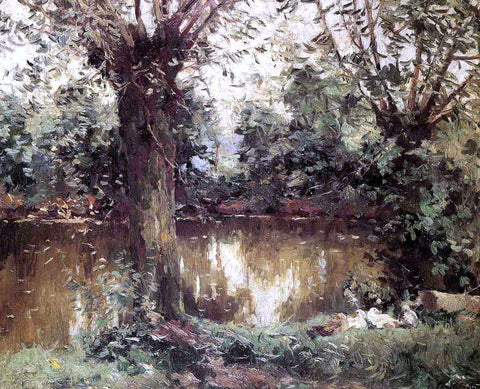 Landscape, Banks of the Yerres by Gustave Caillebotte - Hand Painted Oil Painting