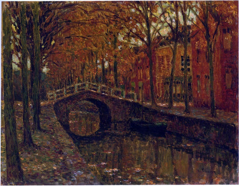 The Delft Canal by Henri Le Sidaner - Hand Painted Oil Painting