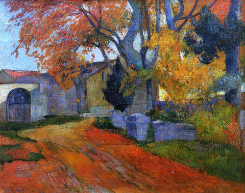 A Lane at Alchamps, Arles by Paul Gauguin - Hand Painted Oil Painting