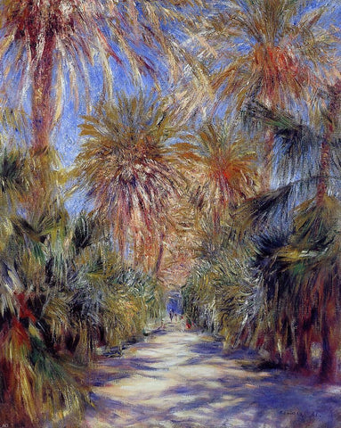 Algiers, the Garden of Essai by Pierre Auguste Renoir - Hand Painted Oil Painting