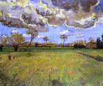 Landscape under a Stormy Sky by Vincent Van Gogh - Hand Painted Oil Painting