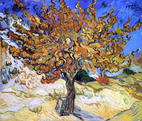 A Mulberry Tree by Vincent Van Gogh - Hand Painted Oil Painting