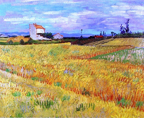 Wheat Field with Sheaves by Vincent Van Gogh - Hand Painted Oil Painting