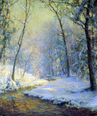 An Early Snow by Walter Launt Palmer - Hand Painted Oil Painting