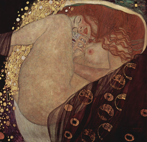Danae, 1907 by Gustav Klimt - Hand Painted Oil Painting