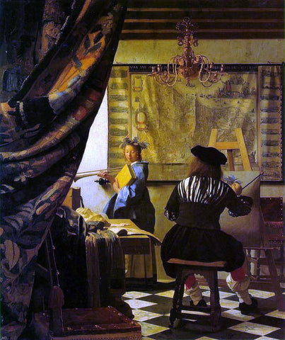 The Art of Painting by Johannes Vermeer - Hand Painted Oil Painting