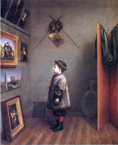 The Young Connoisseur by Robert M Pratt - Hand Painted Oil Painting
