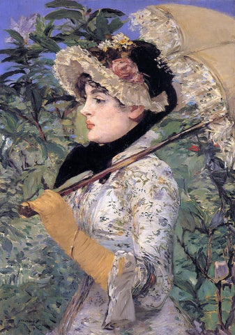 Jeanne: Spring by Edouard Manet - Hand Painted Oil Painting