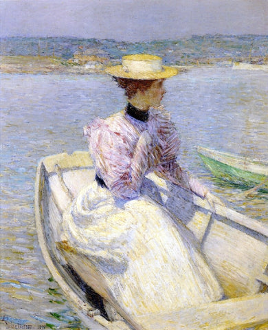 The White Dory by Frederick Childe Hassam - Hand Painted Oil Painting