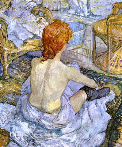 A Woman at Her Toilette by Henri De Toulouse-Lautrec - Hand Painted Oil Painting