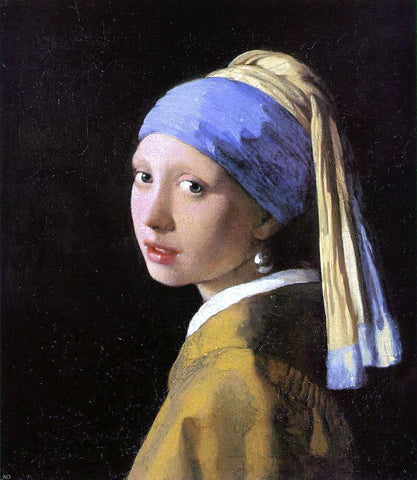 A Girl with a Pearl Earring by Johannes Vermeer - Hand Painted Oil Painting