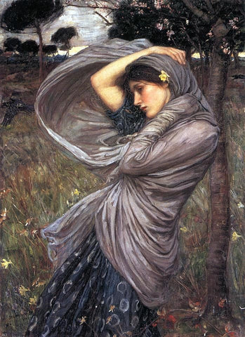 Boreas by John William Waterhouse - Hand Painted Oil Painting