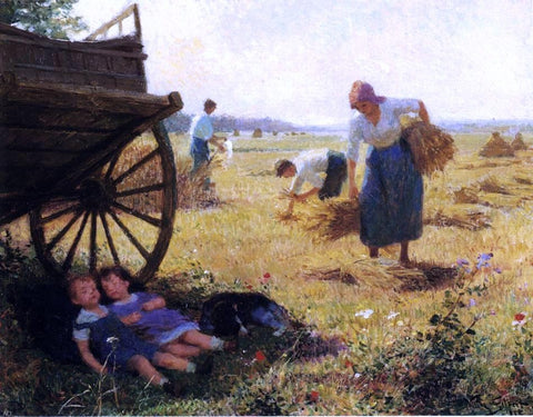 Haymaking by Victor Gabriel Gilbert - Hand Painted Oil Painting