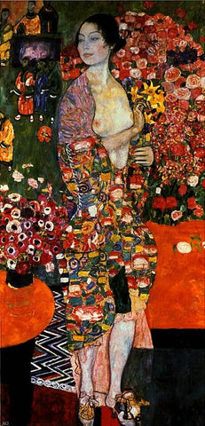 A Die Tanzerin by Gustav Klimt - Hand Painted Oil Painting