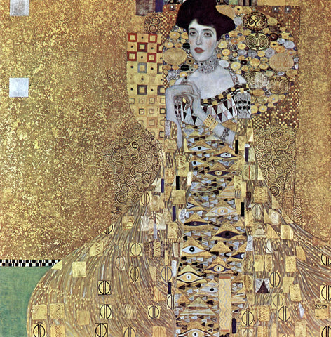 A Portrait of Adele Bloch-Bauer I by Gustav Klimt - Hand Painted Oil Painting
