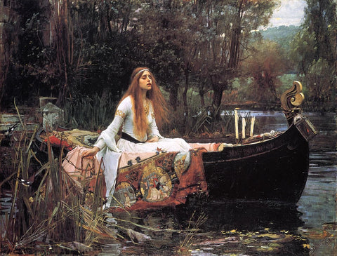 The Lady of Shallot by John William Waterhouse - Hand Painted Oil Painting