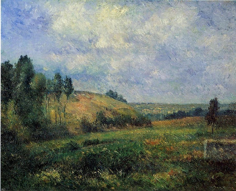 Landscape, near Pontoise by Camille Pissarro - Hand Painted Oil Painting