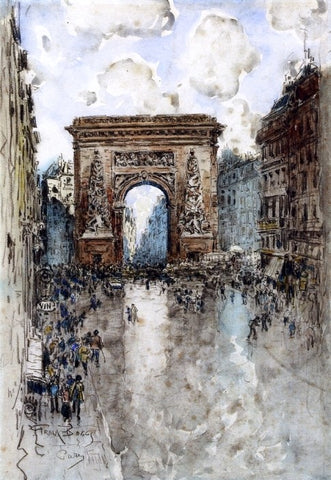 La Porte St. Denis, Paris by Frank Myers Boggs - Hand Painted Oil Painting