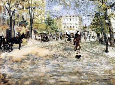 Boulevard in Paris by Jean-Francois Raffaelli - Hand Painted Oil Painting