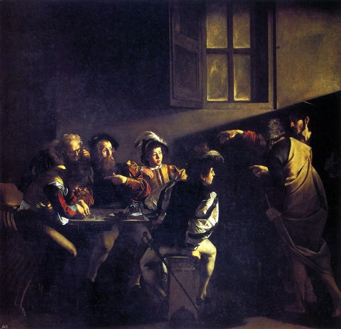 The Calling of St Matthew by Caravaggio - Hand Painted Oil Painting