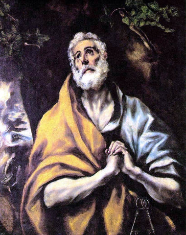 The Repentant Peter by El Greco - Hand Painted Oil Painting