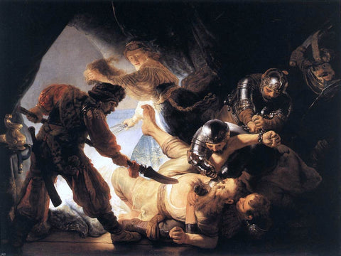 The Blinding of Samson by Rembrandt Van Rijn - Hand Painted Oil Painting